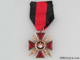 The Order of St. Vladimir with Swords in Gold