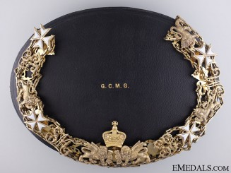 Great Britain. An Order of St. Michael and St. George; Grand Cross Collar by Garrard & Co.