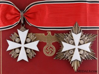 The Order of the German Eagle by Godet; Second Class Set