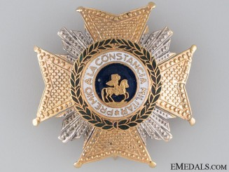 The Royal Order of Hermengildo; 2nd Class Breast Star