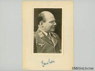 The Signature of WWI Ace & Luftwaffe General Udet
