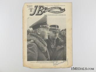 The Signature of Werner Eduard Fritz von Blomberg
