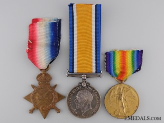 A First War Medal Trio to the Army Service Corps