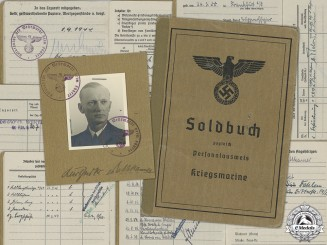 Germany, Kriegsmarine. The Soldbuch Of Naval Adjutant To A.H., Rear Admiral Karl-Jesko Von Puttkamer