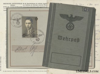 The Wehrpass & Documents to 35th Motorised Panzer Grenadier KIA