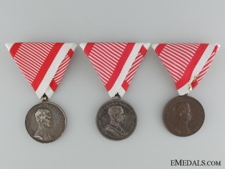 Three Austrian Imperial Bravery Medals