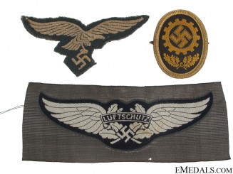 Three Cloth Badges/Insignia