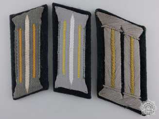 Three Coastal Artillery Collar Tabs