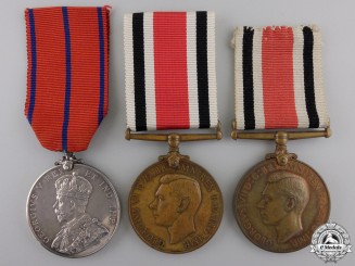 Three Constabulary Service & Coronation Medals