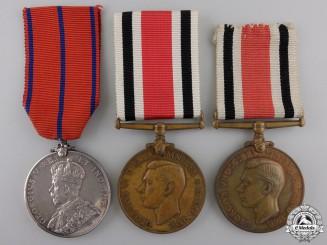 Three Constabulary Service & Coronation Medals