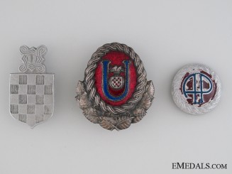Three Croatian Cap Badges