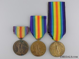 Three First War British Regimental Victory Medals
