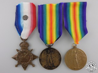 Three First War British Campaign Medals