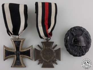 Three First War German Imperial Awards & Badges