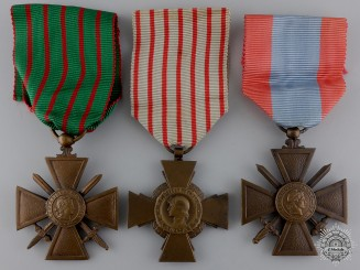 Three French Campaign Medals