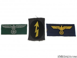 Three German Cloth Insignia