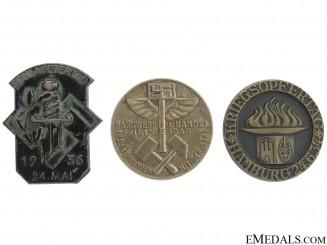 Three German Tinnies & Badges