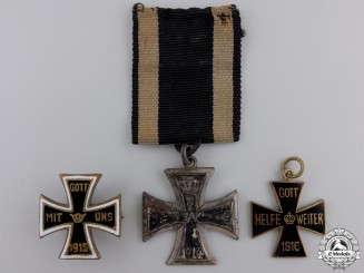 Three Iron Cross 1914 Badges and Pins