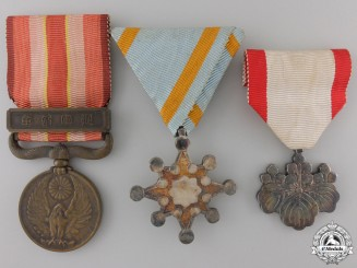 Three Japanese Campaign Medals and Awards