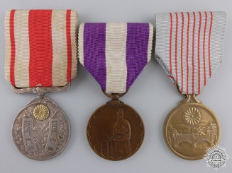 Japan, Empire. Three Medals and Awards
