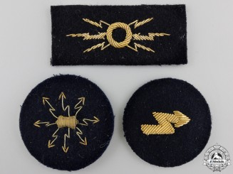 Three Kreigsmarine Officer's Career Sleeve Insignia