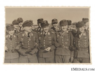 Three Luftwaffe Knight's Cross Winners Photograph