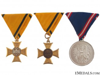 Three Military Service Awards