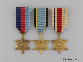 Three Miniature Second War Campaign Stars