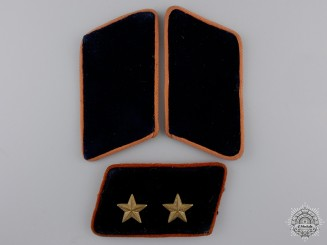 Three Postal Service (Reichspost) Collar Tabs
