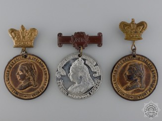 Three Queen Victoria Jubilee Medals