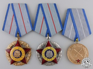 Three Romanian Socialist Military Merit Awards