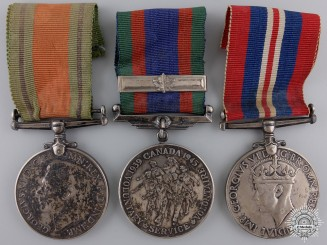 Three Second War Canadian Service Medals