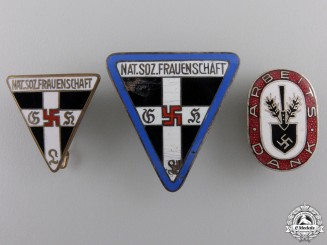 Three Second War German Membership Badges