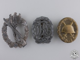 Three Second War German Badges and Awards