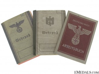 Three WWII German Identification Items