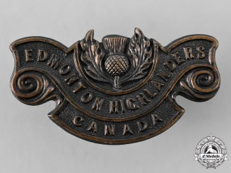 "Canada, CEF. A 194th Infantry Battalion ""Edmonton Highlanders"" Shoulder Title"