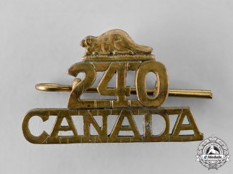 "Canada, CEF. A 240th Infantry Battalion ""Lanark and Renfrew Battalion"" Shoulder Title"