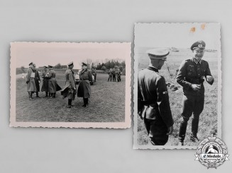 Germany, Wehrmacht. A Pair of Field Photographs of Wehrmacht Personnel