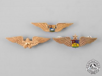Venezuela, Republic. Three National Bolivarian Military Aviation Badges