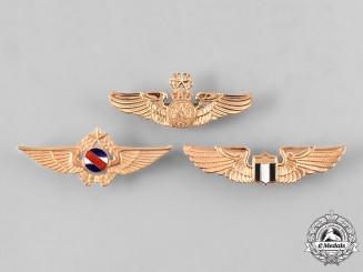 El Salvador, Nicaragua, Uruguay. A Lot of Three Air Force Pilot Badges
