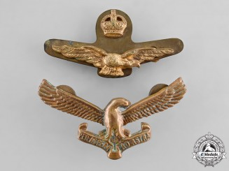 South Africa, Republic, Two Second War Air Force Cap Badges