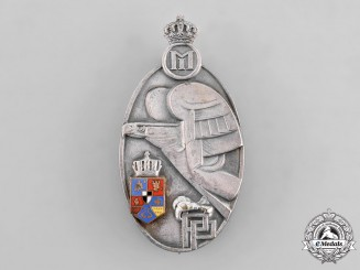 Romania, Kingdom. A Military Academy Graduate Badge, II Class Silver Grade, c.1940