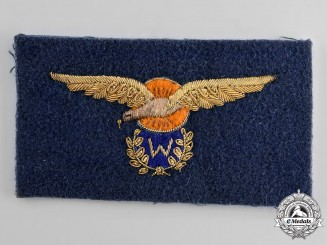 Netherlands, Kingdom. A Pilot-Observer Blazer Patch, c.1939