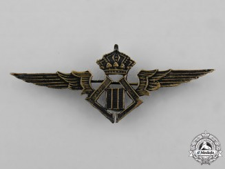 Belgium, Kingdom. A Pilot Badge c.1935