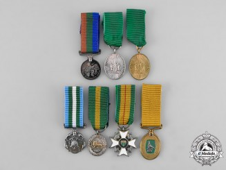Rhodesia, Constitutional Monachy. A Lot of Seven Miniature Awards