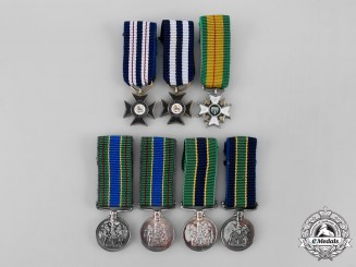 Rhodesia, Constitutional Monachy. A Lot of Seven Miniature Police Awards