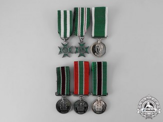 Rhodesia, Constitutional Monachy. A Lot of Six Miniature Rhodesia Prison Service Awards