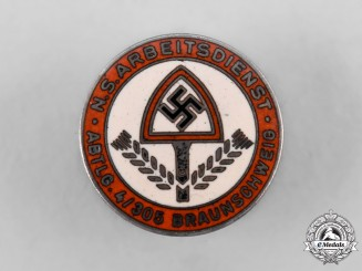 Germany, NSAD. A National Socialist Labour Service Braunschweig Company Membership Badge, by Julius Bauer Söhne
