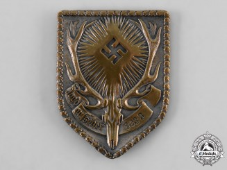 Germany, Third Reich. A German Hunting Association (DJV) Supervisor's Identity Badge, by Ferdinand Hoffstätter