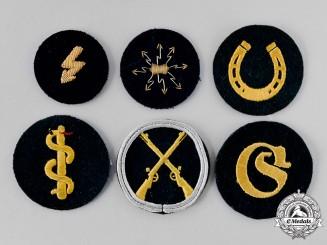 Germany, Wehrmacht. A Lot of Cloth German Uniform Insignia